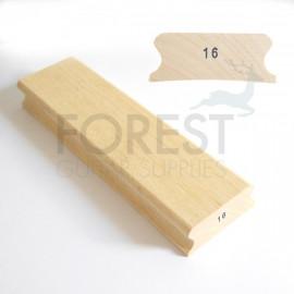"""16"""" Guitar fingerboard sanding and gluing radius block - 85x300mm"""