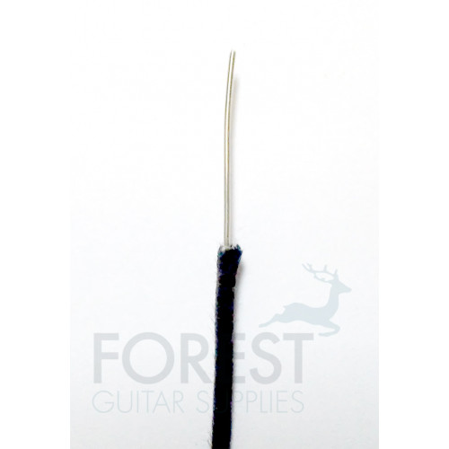 Black cloth covered guitar wire AWG22 vintage style, 1 metre (3.28 feet)