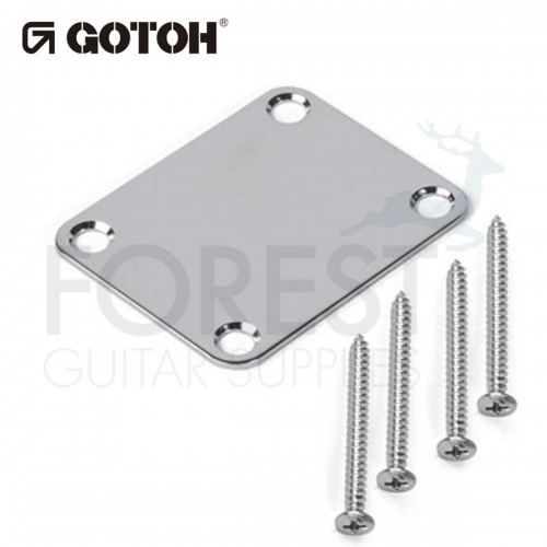 Gotoh NBS3 guitar neck joint plate chrome with screws