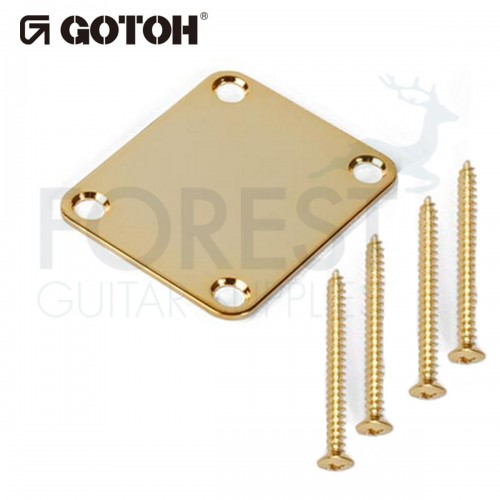 Gotoh NBS3 guitar neck joint plate Fender style gold with screws