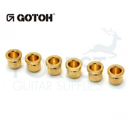 Gotoh TLB1 guitar string ferrules Fender® Telecaster® style gold set of 6
