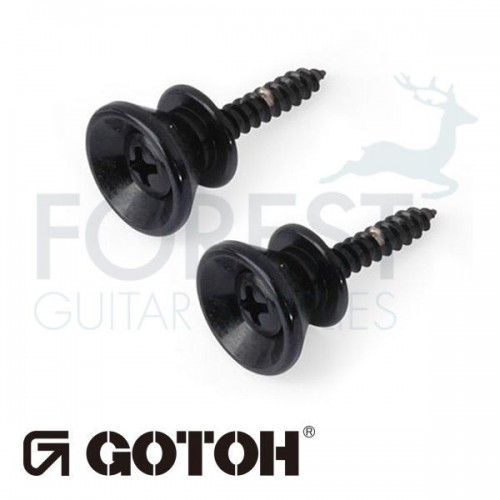 Gotoh strap pin EPB2 Fender Stratocaster ® style, Set of 2, Black