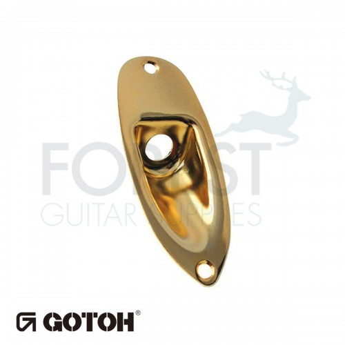 Gotoh JCS1 ST style guitar jack plate gold, with screws