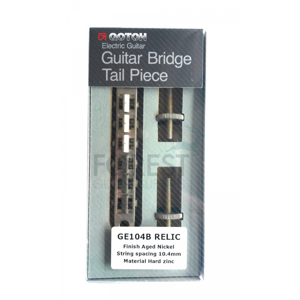 NEW Gotoh GE104B ABR-1 Style TOM Bridge for Gibson® Guitar Aged Relic Nickel