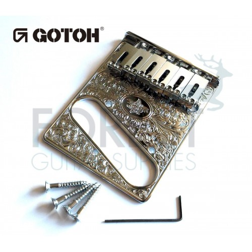 GOTOH Guitar fixed Bridge Fender® Telecaster® style Art collection ART-02, Chromecaster® style Art collection ART-02, Chrome