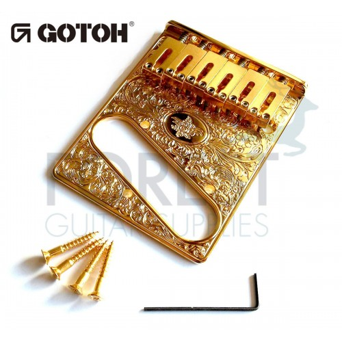 GOTOH Guitar fixed Bridge Fender® Telecaster® style Art collection ART-02, Gold