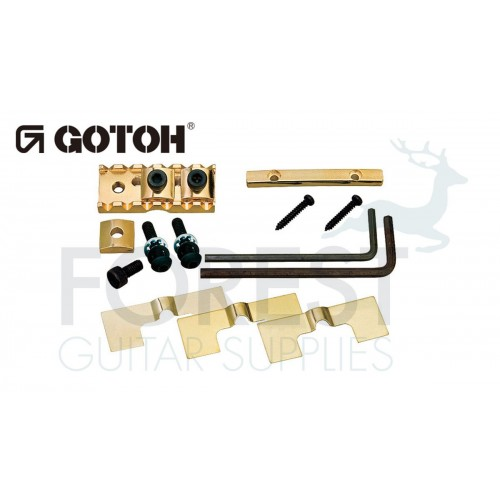 Gotoh FGR1 Floyd Rose ® style bottom mount through neck locking nut, gold