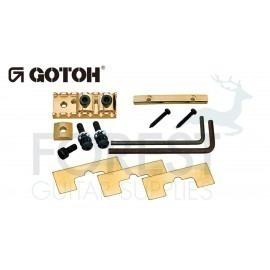 Gotoh GHL1 Floyd Rose ® style bottom mount through neck locking nut, gold