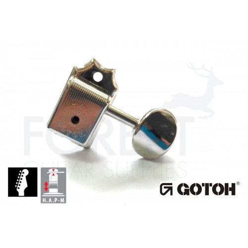 GOTOH SD91-05M 6L HAPM guitar machine heads, Fender® Telecaster® vintage style nickel, Magnum lock