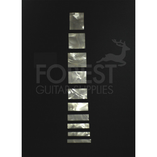 Gibson Les Paul ® custom style celluloid inlay square set (10)