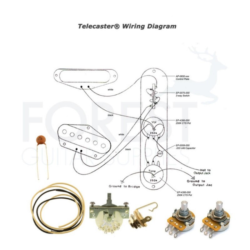 Wiring kit for fender telecaster guitars switchcraft jack cts wiring kit for fender telecaster guitars switchcraft jack cts pots crl 3 way switch swarovskicordoba Choice Image