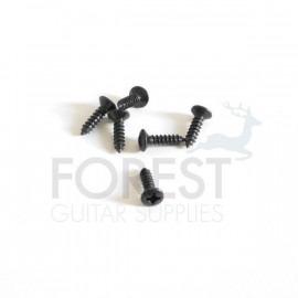 Pickguard screws Fender® size oval head black 3x12mm