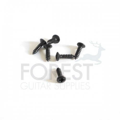 Pickguard screws Fender® size oval head black 3x12mm