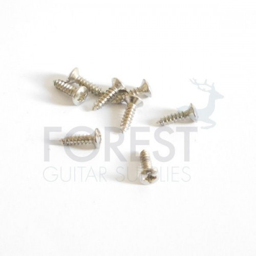 10 Set pickguard screws oval head for Fender® chrome 3x12mm