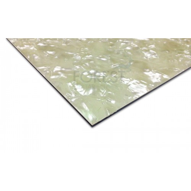 Pickguard Sheet White Pearloid 3 Ply B W B Wp 450x300x2