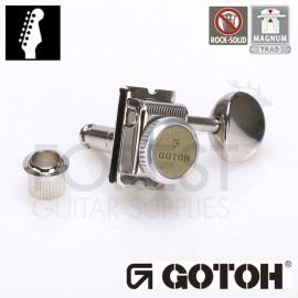 GOTOH SD91-05M 6L MG-T guitar machine heads, Nickel, Magnum lock trad