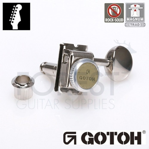 GOTOH SD91-05M 6L MG-T guitar machine heads, Nickel, Magnum lock trad