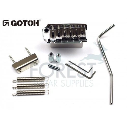 GOTOH EV510T-BS tremolo bridge chrome, Brass saddle, Two post style