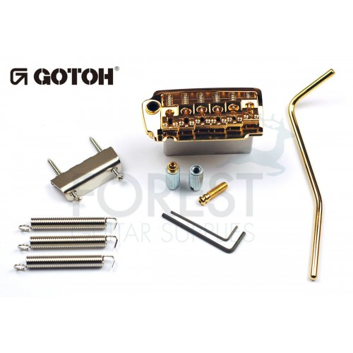 GOTOH EV510T-BS tremolo bridge gold, Brass saddle, Two post style