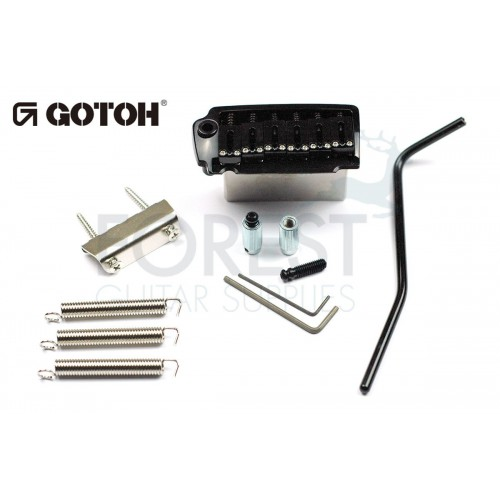 GOTOH EV510T-BS tremolo bridge black, Brass saddle, Two post style