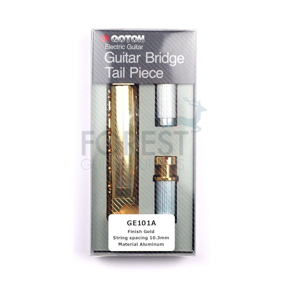 GOTOH Guitar stop tailpiece GE101A Aluminum Gold finish