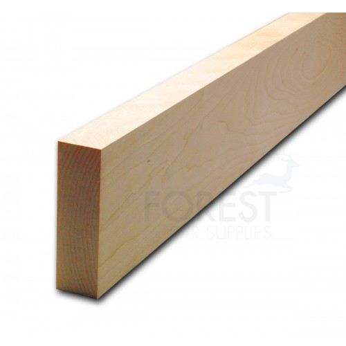Bass guitar neck blank American hard maple, plain cut