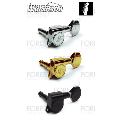 Wilkinson® WJN-07 EZ lock machine heads for Strat or Tele style guitar