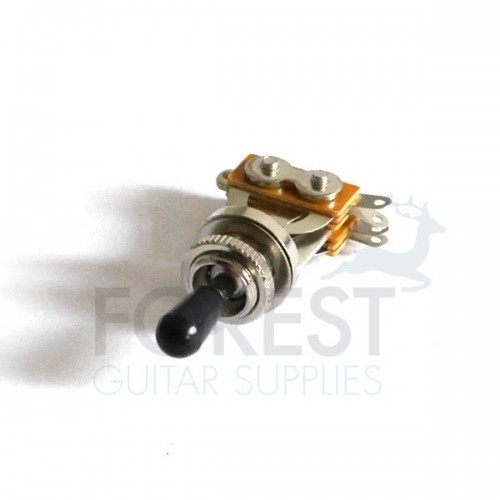 3 Way Toggle Switch Gibson LP style Chrome w/Black tip