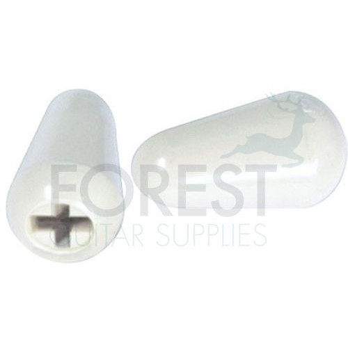 ST style guitar plastic lever switch tip white