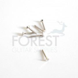 Guitar humbucker pickup ring screw flat head chrome 2,1x15mm, unit