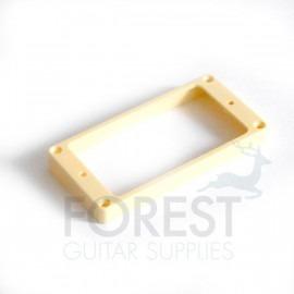 Humbucker pickup mounting ring, frame, Bridge position, Cream, flat bottom