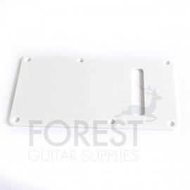 Fender Stratocaster ® style back spring cover plate, white