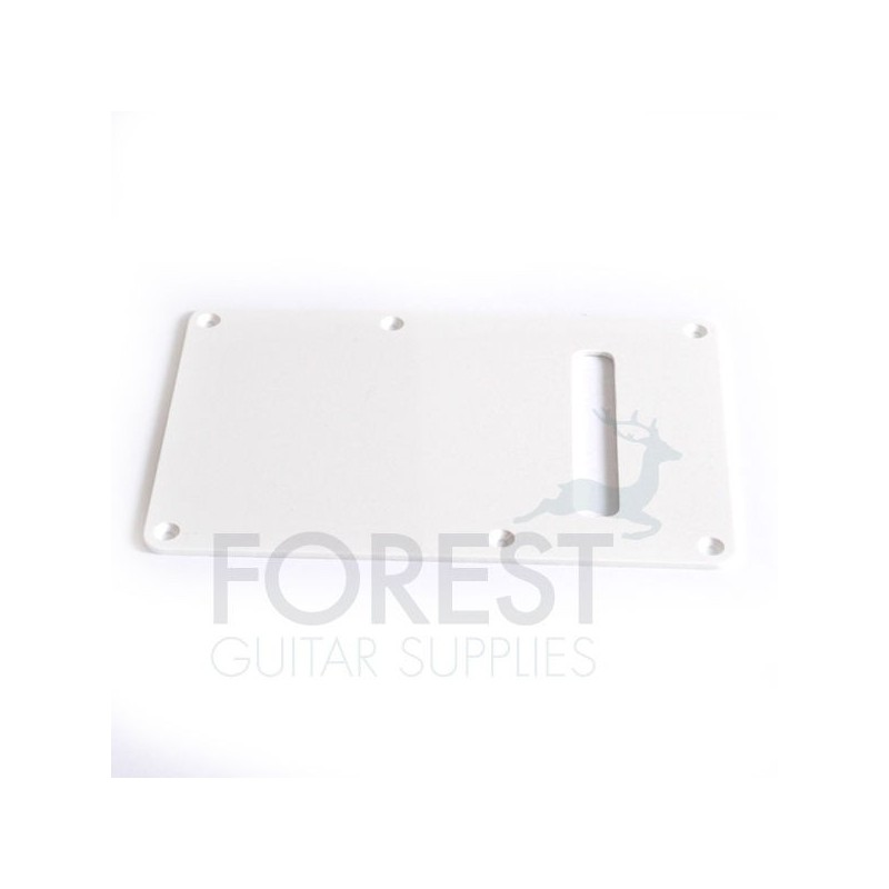 Back spring cover plate for St style guitar white
