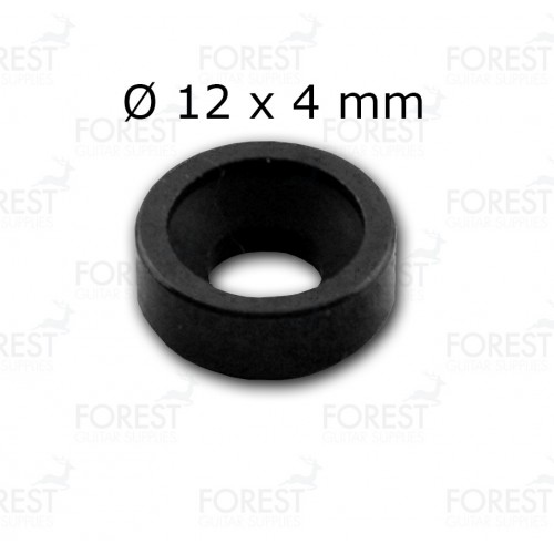 Guitar neck joint ferrule, bushing HB002, 12 x 4 mm, black