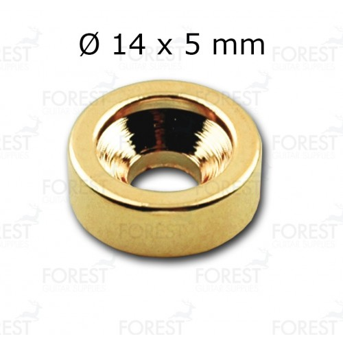 Guitar neck joint ferrule, bushing HB007, 14 x 5 mm, gold