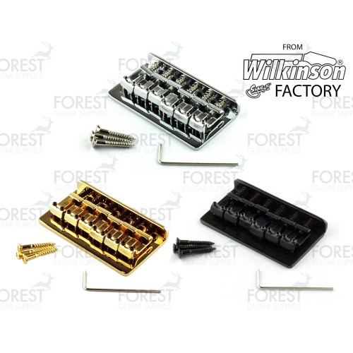 Hardtail string-thru vintage style bridge for Telecaster ® Stratocaster ® guitar, BN-005