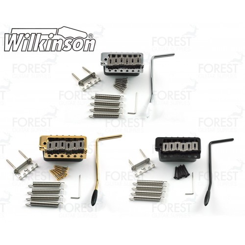Wilkinson ® WVPC guitar tremolo bridge, steel block and saddles, 6 screw pivot mounting