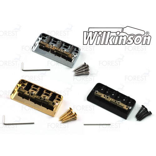 "Wilkinson ® WTBS Telecaster® short ""Ashtray"" bridge, compensated brass saddle"