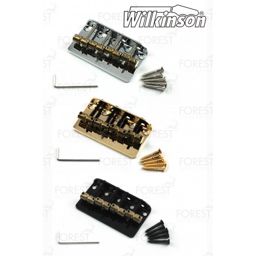 Wilkinson ® 4 string Bass bridge vintage style WBBC4, brass saddles