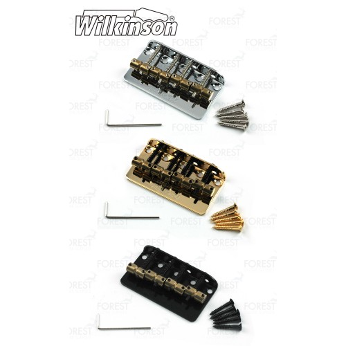 Wilkinson ® 5 string Bass bridge vintage style WBBC5, brass saddles