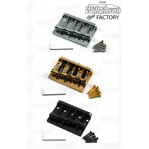 BB009 Bass bridge, 4 strings ,barrel style brass saddle