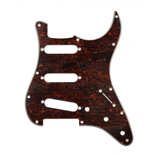 Fender Stratocaster ® aftermarket pickguard, Tortoise 3 Ply (T/W/B) S/S/S