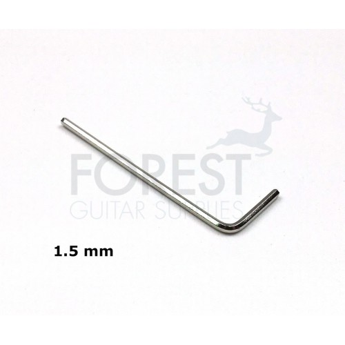 Guitar bridge saddle adjusting allen wrench 1.5 mm key, Chrome vanadium