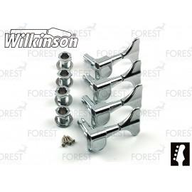 Wilkinson ® WJB650 Bass guitar machine heads Ibanez ® style Chrome finish, 4 in line