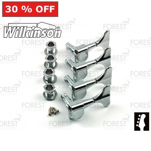 Wilkinson WJB650 Bass guitar machine heads Ibanez style Chrome finish, 4 in line