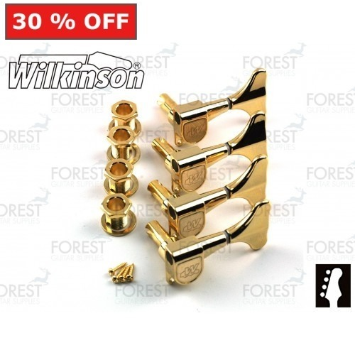 Wilkinson ® WJB650 Bass guitar machine heads Ibanez ® style Gold finish, 4 in line