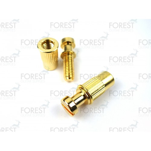 Guitar Stop tailpiece bridge studs / bushing TB001, gold finish, 2 set