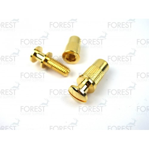Guitar Stop tailpiece bridge studs / bushing TB002, gold finish, 2 set
