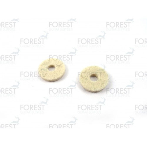 Strap pin felt washer white, set of 2