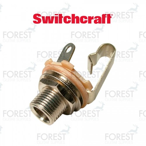 """Switchcraft ® SCL11 Jack mono input 1/4"""" inch, extra long thread"""